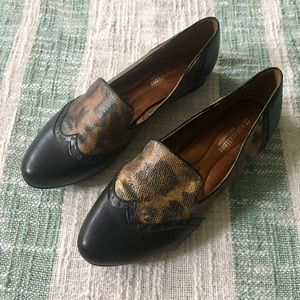 Naturalizer N5 Leopard Studded Wing Tip Loafers 11